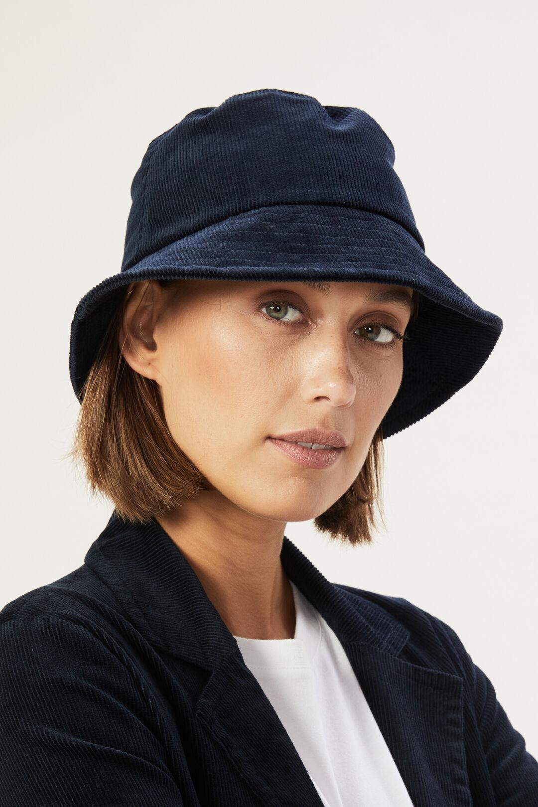 CORDED BUCKET HAT  NAVY  hi-res