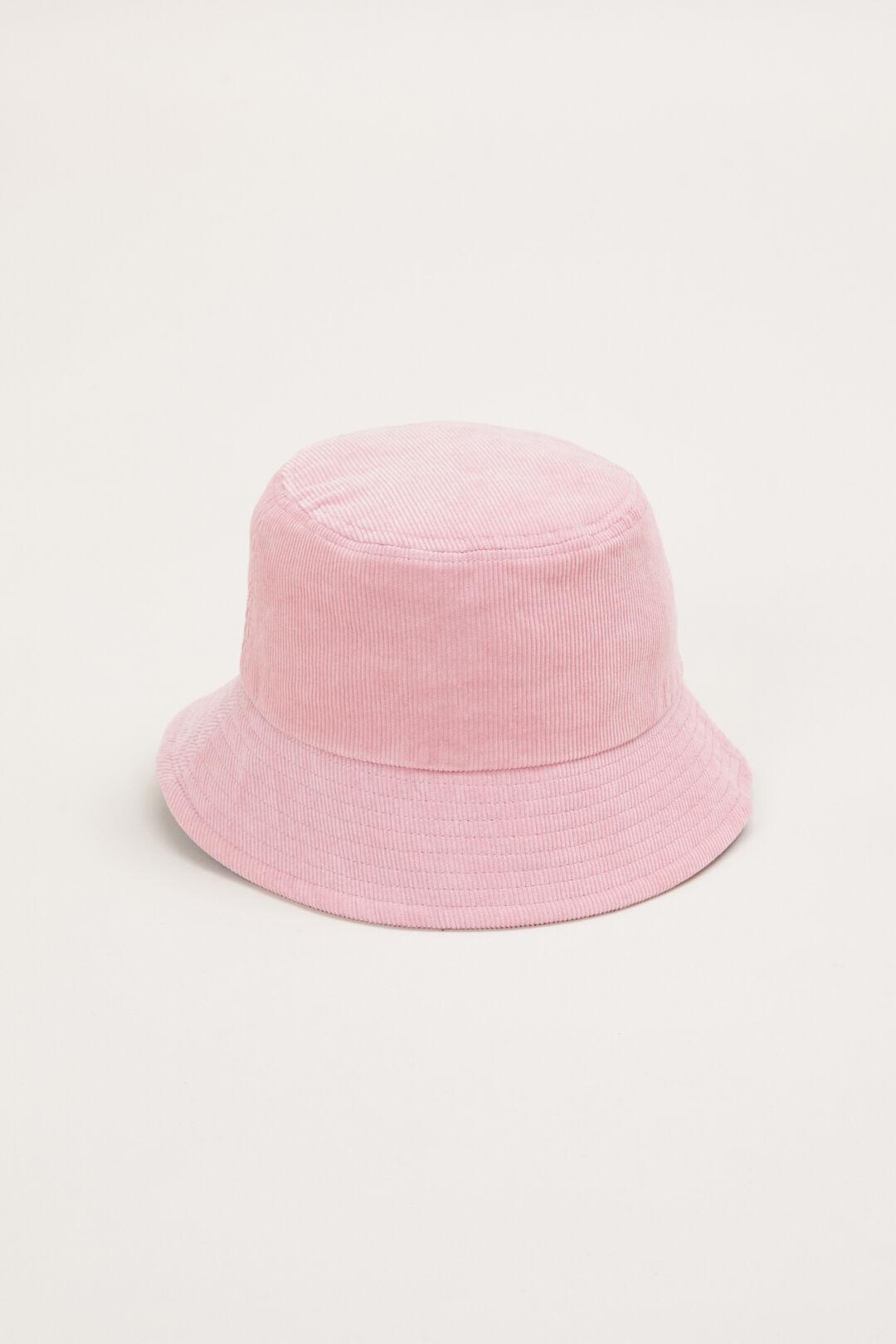 CORDED BUCKET HAT  PINK  hi-res