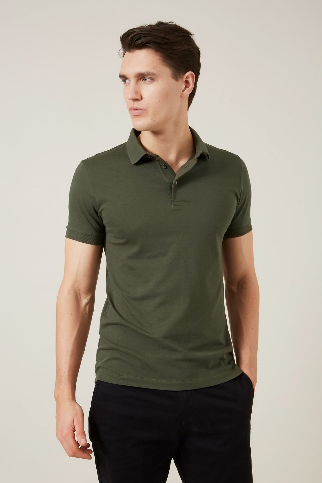 CLASSIC POLO  MILITARY GREEN  hi-res