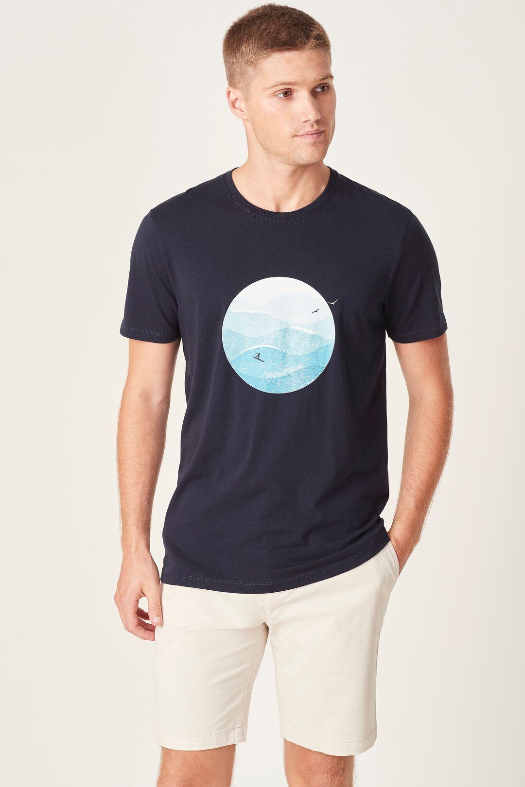 SEASIDE T-SHIRT  MARINE BLUE  hi-res