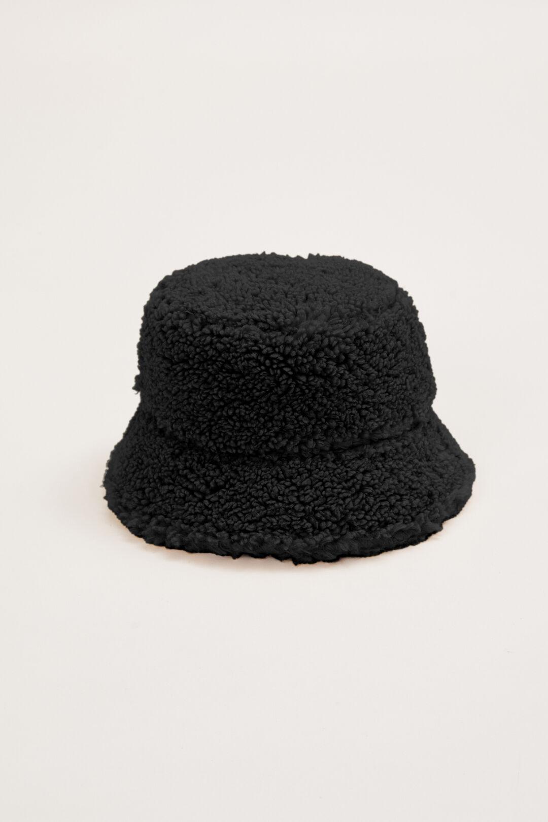 TEDDY BUCKET HAT  BLACK  hi-res