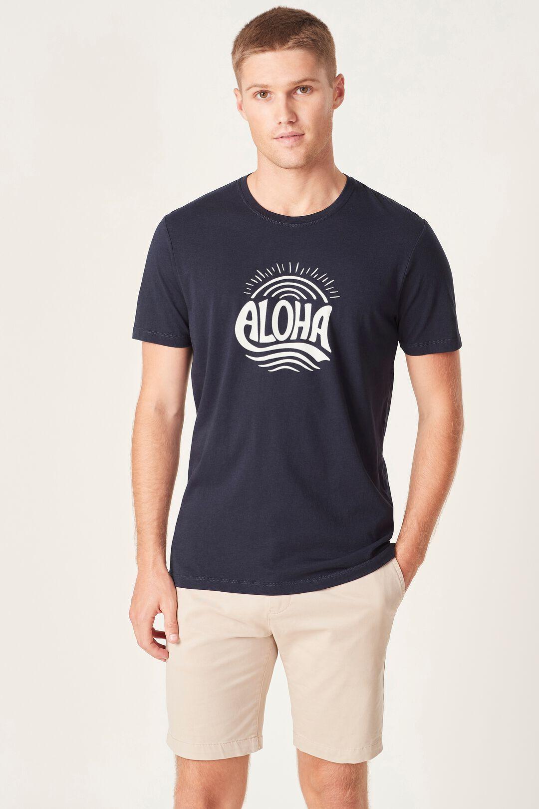 ALOHA T-SHIRT  MARINE BLUE  hi-res