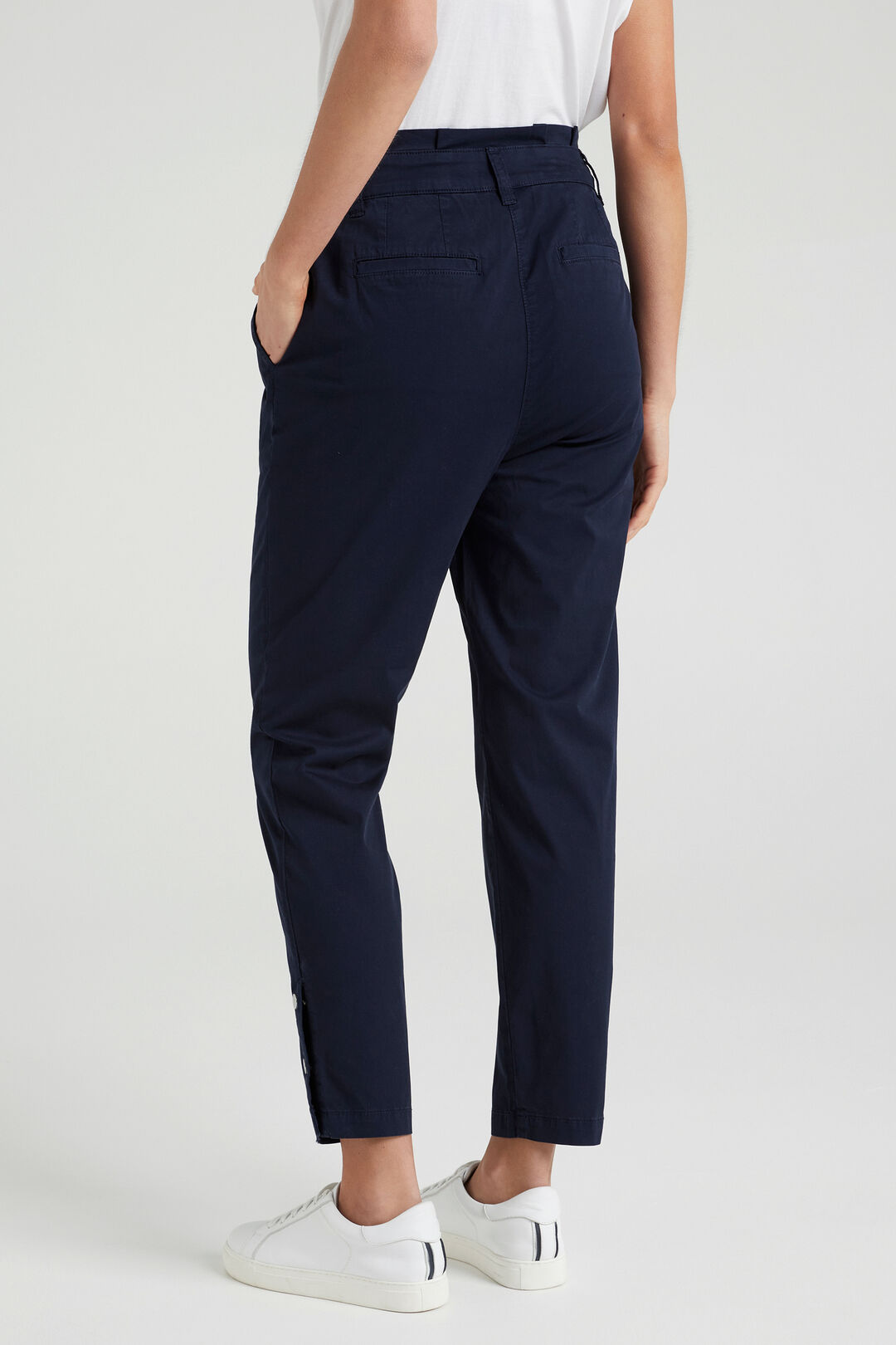 HIGH WAIST TAPERED PANT  FRENCH NAVY  hi-res