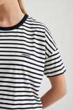 FRENCH EMBROIDERY T-SHIRT  ECRU/FRENCH NAVY  hi-res