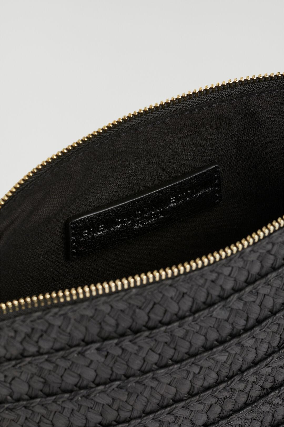 STRAW CLUTCH  BLACK  hi-res