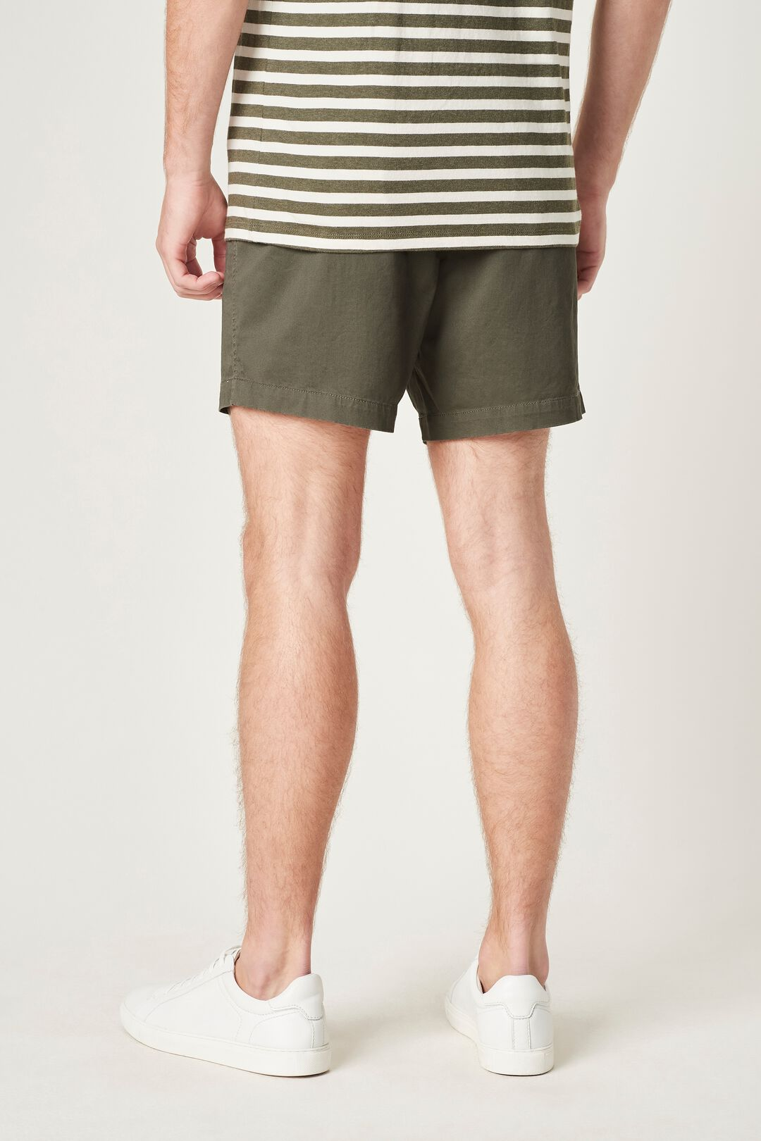 PULL ON SHORT  MILITARY GREEN  hi-res