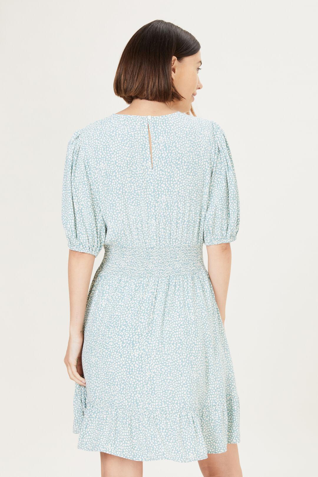 SPOT TEA DRESS  SAGE/VINTAGE WHITE  hi-res