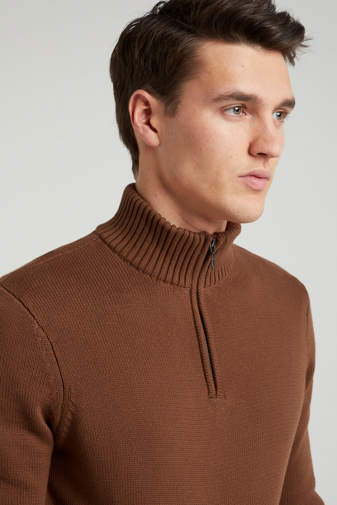 FUNNEL NECK KNIT  CLAY  hi-res