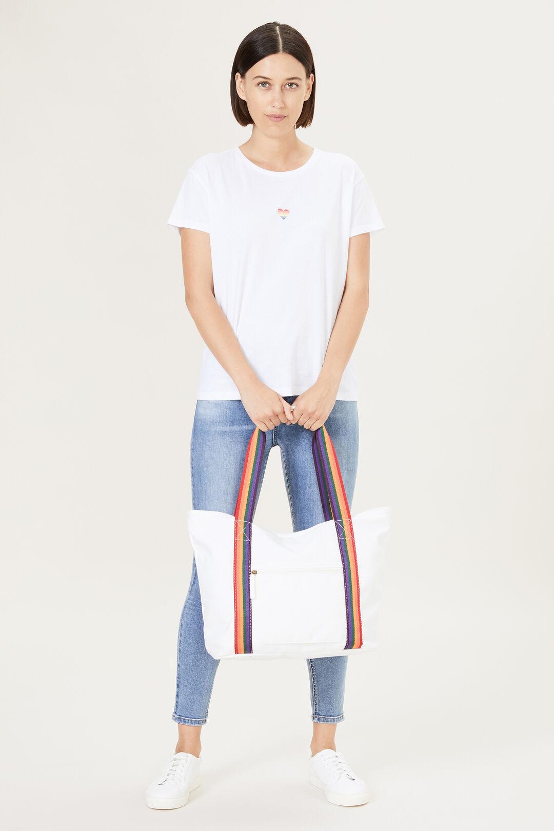RAINBOW SHOPPER BAG  WHITE/RAINBOW  hi-res